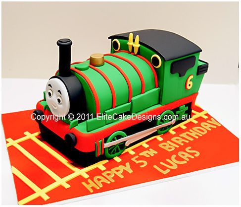 Marvelous Percy Train Birthday Cake Thomas And Friends Birthday Cake Funny Birthday Cards Online Overcheapnameinfo