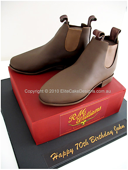 R.M Williams Boots Novelty Birthday Cake