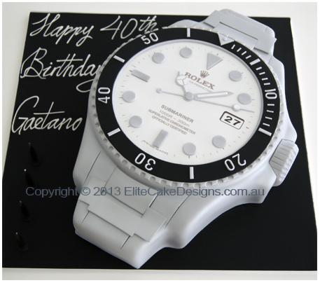 Prime Rolex Watch Birthday Cake Birthday Cakes Sydney Cakes For 30Th Personalised Birthday Cards Arneslily Jamesorg