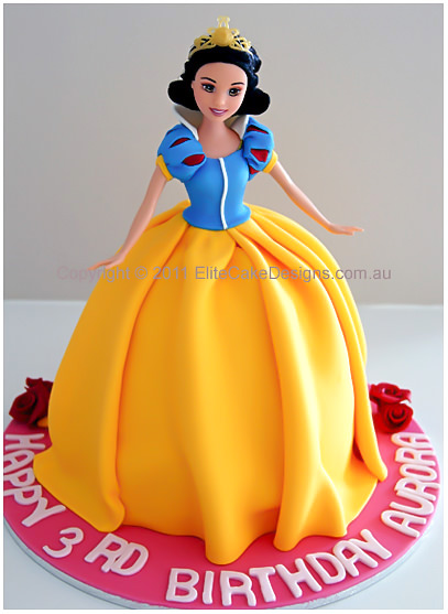 How To Make Snow White Doll Cake