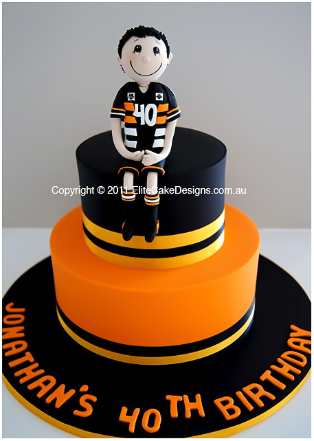 Remarkable Nrl West Tigers Birthday Cake 21St 30Th 40Th 50Th Birthday Personalised Birthday Cards Paralily Jamesorg