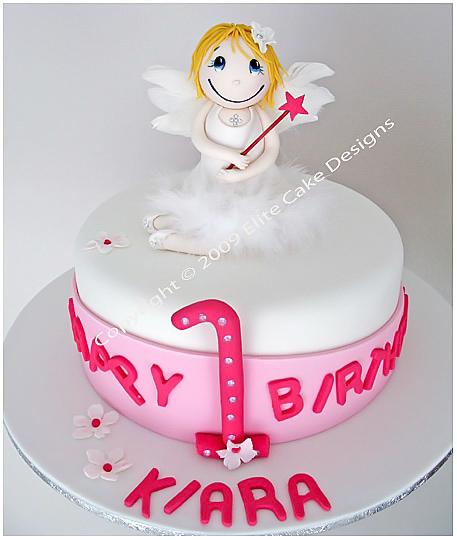 Angel Birthday Cake Children Birthday Cakes 1st Birthday Cakes