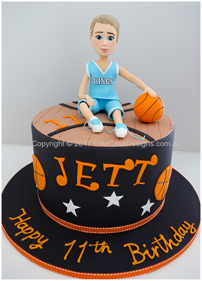 Basketball theme kids birthday cake idea