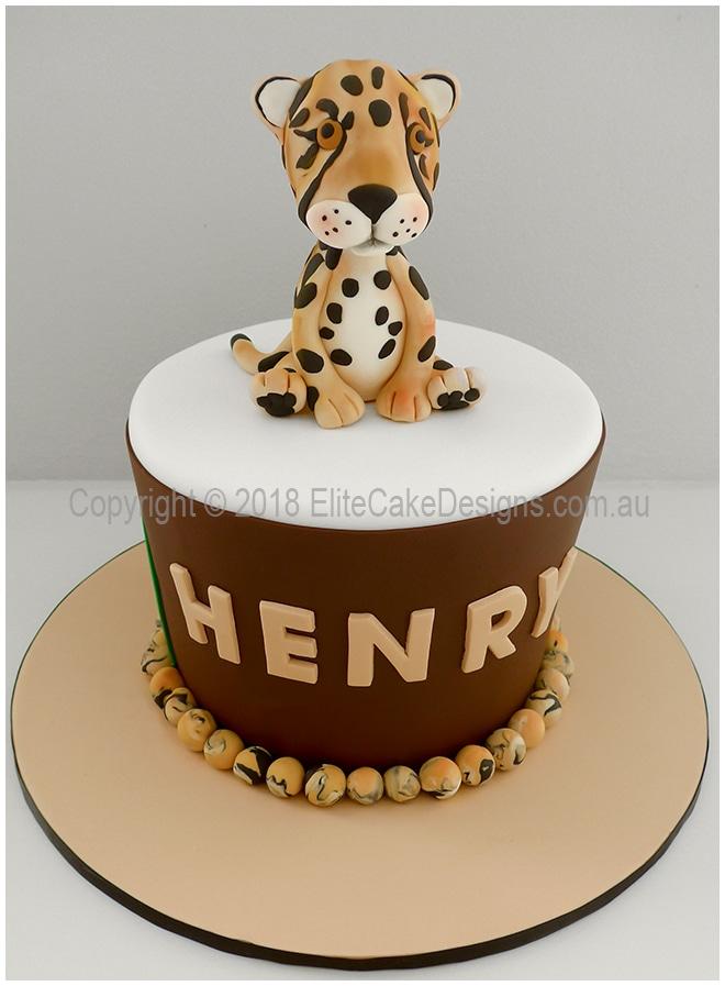 Outstanding Cheetah Birthday Cake Birthday Cakes For Boys Safari Theme Cakes Funny Birthday Cards Online Benoljebrpdamsfinfo