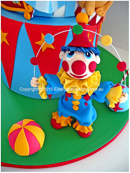 Superb Circus Carnival Birthday Cake Kids Birthday Cakes Children Funny Birthday Cards Online Overcheapnameinfo