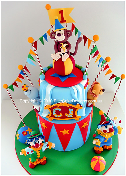 Miraculous Circus Carnival Birthday Cake Kids Birthday Cakes Children Personalised Birthday Cards Bromeletsinfo