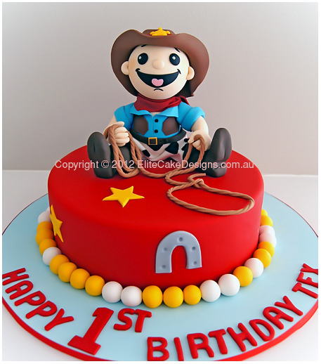 Super Cowboy Birthday Cake Elmo And Friends Birthday Cake Children Funny Birthday Cards Online Inifodamsfinfo