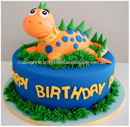 Marvelous Dinosaur Kids Birthday Cake In Sydney Birthday Cakes For Kids Personalised Birthday Cards Bromeletsinfo