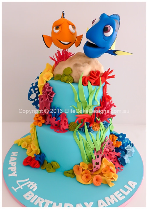 Finding Dory kids Birthday Cake in Sydney uniquely designed by
