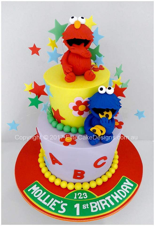 Sesame St Theme Kids Birthday Cake by EliteCakeDesigns Sydney