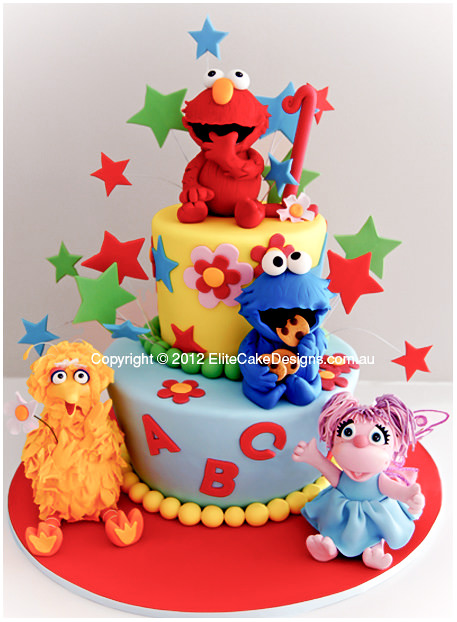 Admirable Sesame Street Kids Birthday Cake By Elitecakedesigns Sydney Personalised Birthday Cards Paralily Jamesorg
