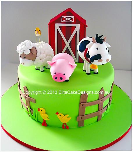 Farm Animals Birthday Cake, 1st Birthday Cakes Sydney Australia ...