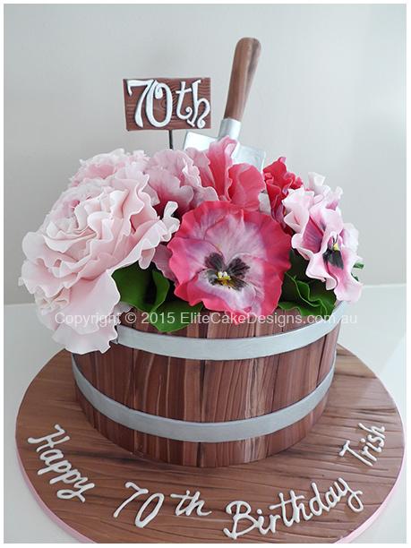 Flower Pot Birthday Cake Birthday Cakes Sydney Cakes for 21st