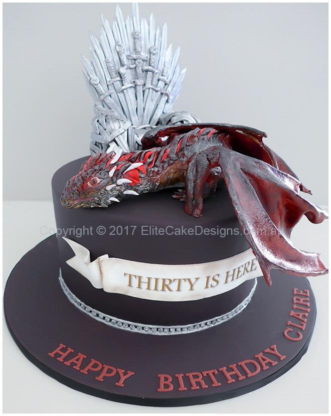 Game Of Thrones Birthday Cake Uniquely Designed By Elitecakedesigns