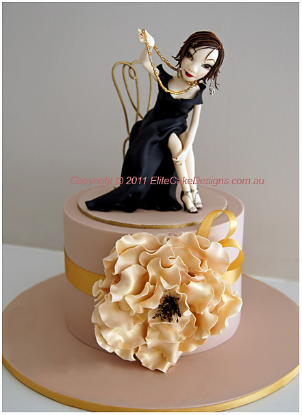 Ladies Glitz And Glamour Birthday Cakes