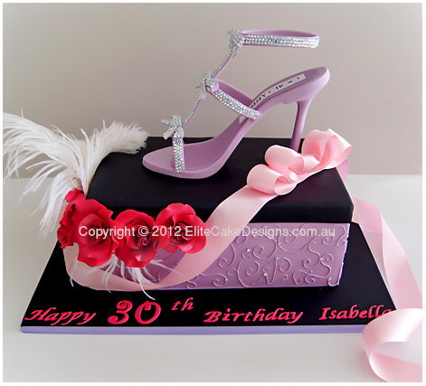 Glitz n glamour stiletto shoe birthday cake