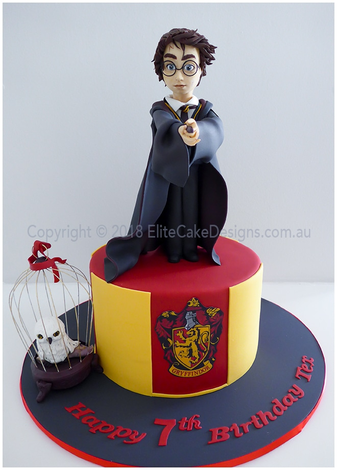 Fine Harry Potter Kids Birthday Cake By Elitecakedesigns Sydney Personalised Birthday Cards Paralily Jamesorg