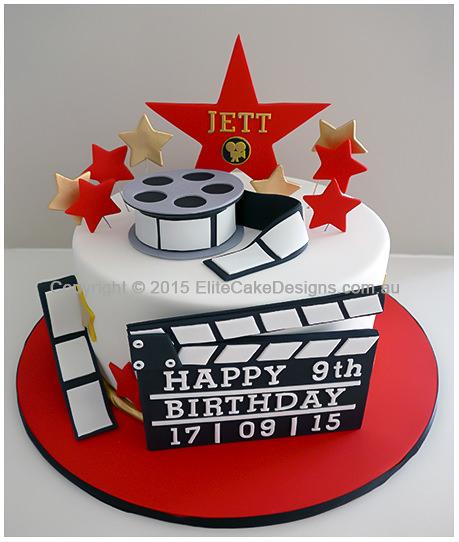 Hollywood Baby Shower Cake