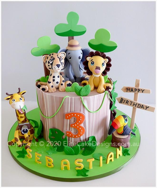 Marvelous Jungle Kids Birthday Cake In Sydney Safari Theme Cakes By Funny Birthday Cards Online Inifofree Goldxyz