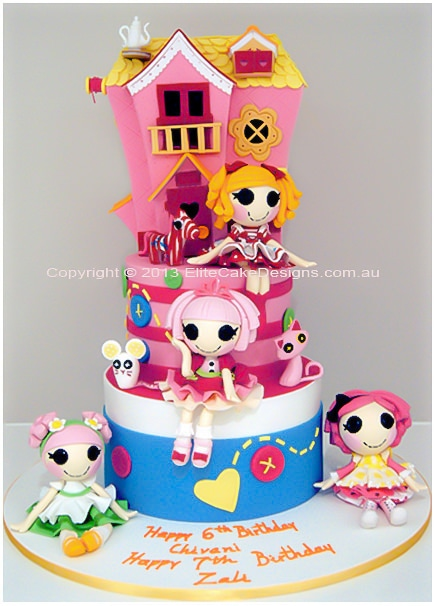 Superb Lalaloopsy Birthday Cake In Sydney Kids Novelty Birthday Cakes Personalised Birthday Cards Rectzonderlifede