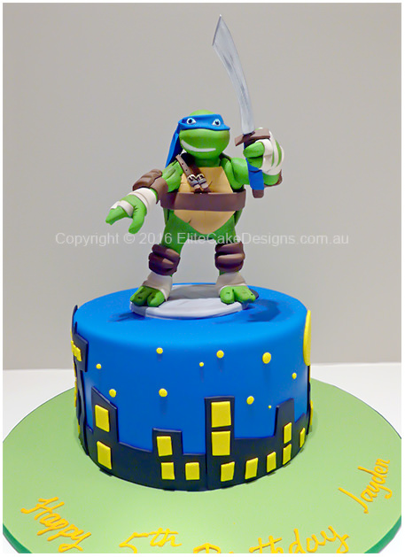 Phenomenal Ninja Turtles Birthday Cake In Sydney By Elitecakedesigns Funny Birthday Cards Online Fluifree Goldxyz