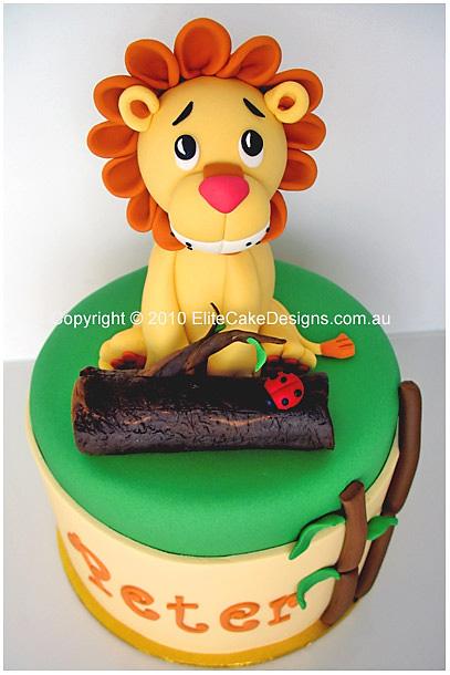 Lion Safari Birthday Cake For Boys