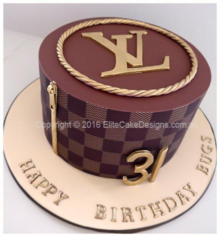 Louis Vuitton Lv Logo Birthday Cake 30th 40th 50th