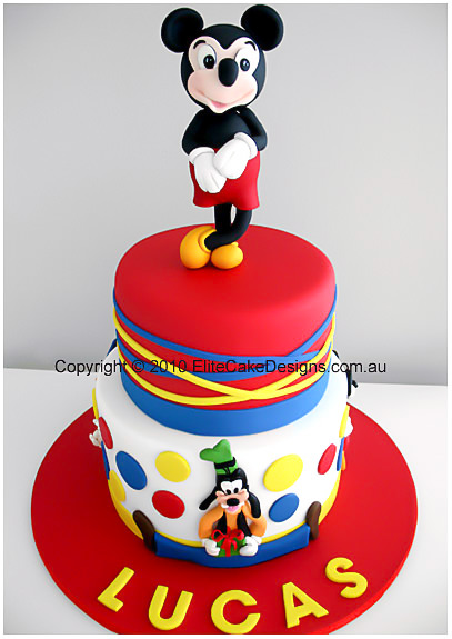 Mickey mouse birthday cake