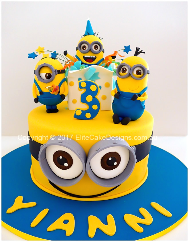 Pleasing Minions Kids Birthday Cake In Sydney Exclusively Designed By Funny Birthday Cards Online Eattedamsfinfo
