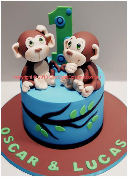 Birthday Cake Monkey Design Image Inspiration of Cake and Birthday
