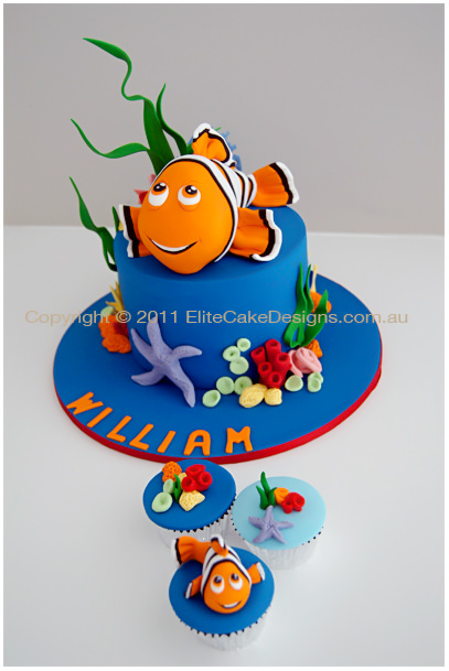 Brilliant Finding Nemo Birthday Cake In Sydney Childrens Birthday Cake Funny Birthday Cards Online Elaedamsfinfo