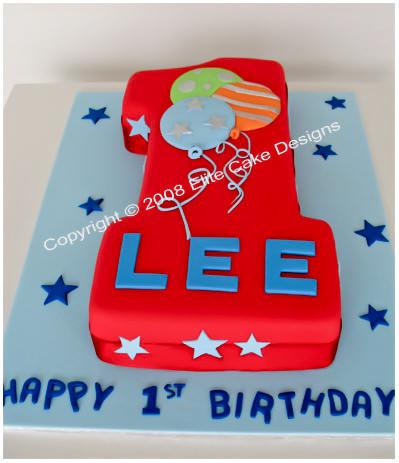 Number 1 Birthday Cake Children Cakes 1st