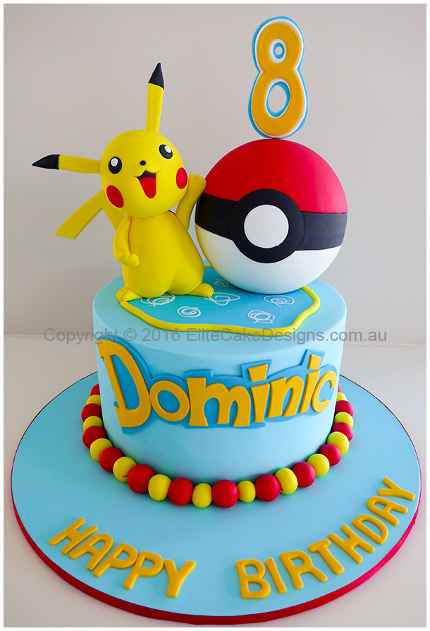 Stupendous Pokemon Kids Birthday Cake In Sydney Uniquely Designed By Personalised Birthday Cards Bromeletsinfo