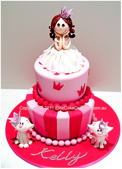 Princess Theme Girls Birthday Cake