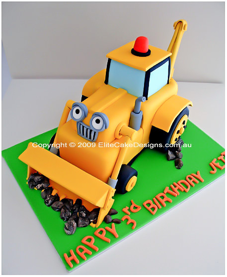 Backhoe Birthday Cake