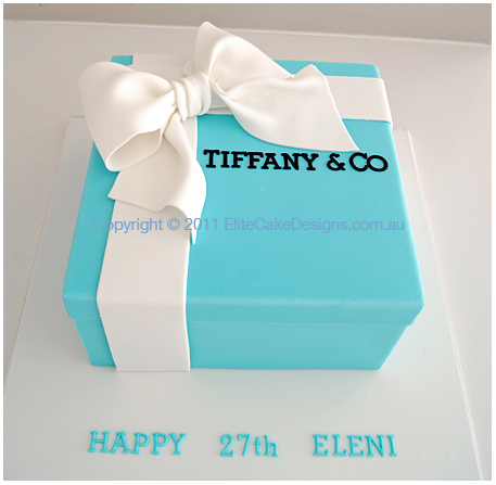 Tiffany Co Gift Box Birthday Cake Cakes Sydney