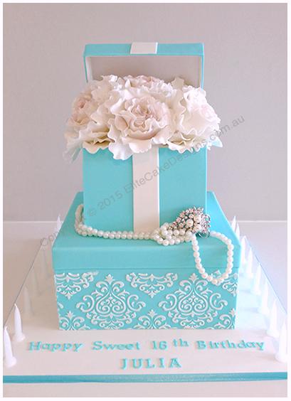 Tiffany Co Floral Birthday Cake Birthday Cakes Sydney Cakes for