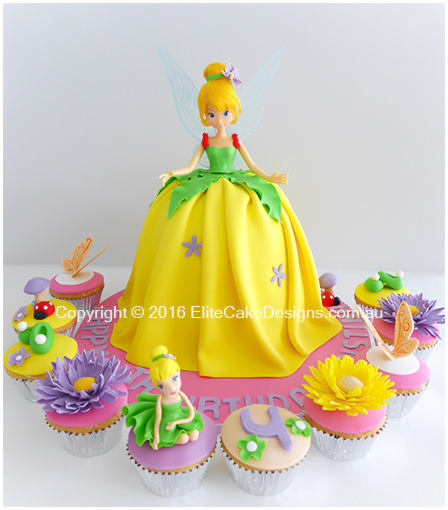 Tinkerbell-fairy birthday cake