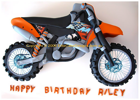 Outstanding Ktm Track Bike Birthday Cake 21St Birthday Cakes Sydney Dirt Funny Birthday Cards Online Overcheapnameinfo