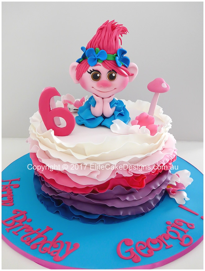 Trolls Girls Birthday Cake In Sydney Exclusively Designed By