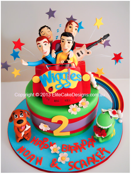 Magnificent Wiggles Birthday Cake The Wiggles Birthday Cake Children Birthday Cards Printable Opercafe Filternl