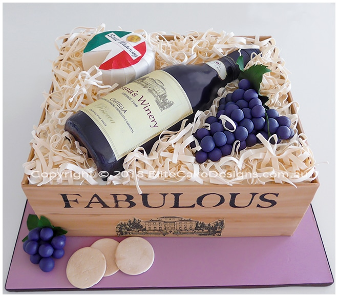 Wine Bottle Birthday Cake Uniquely Designed By Elitecakedesigns Sydney