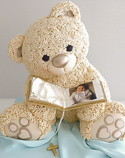 3D Teddy Christening cake for a boy
