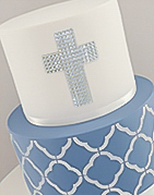 Christening cake with a Holy Cross