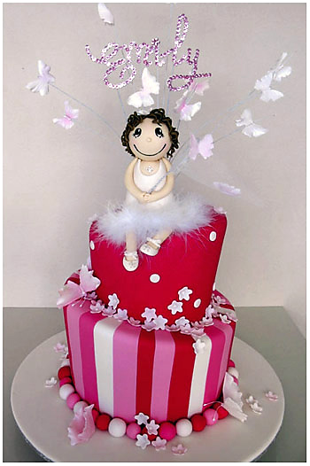 Butterfly girl cake for girls Christening