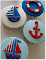Sailing Boat Nautical Theme Cupcakes