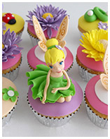 Tinkerbell cupcakes for a girls birthday