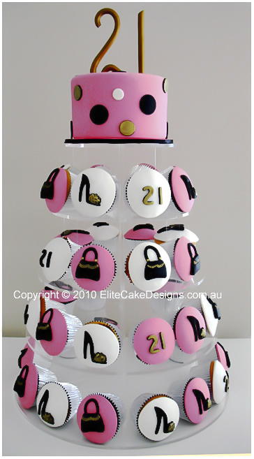 Fashion Theme Birthday Cupcakes 21st Birthday Cupcakes Designed By