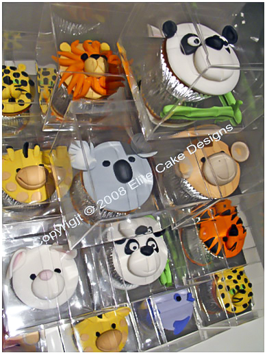 jungle-zoo animal cupcakes