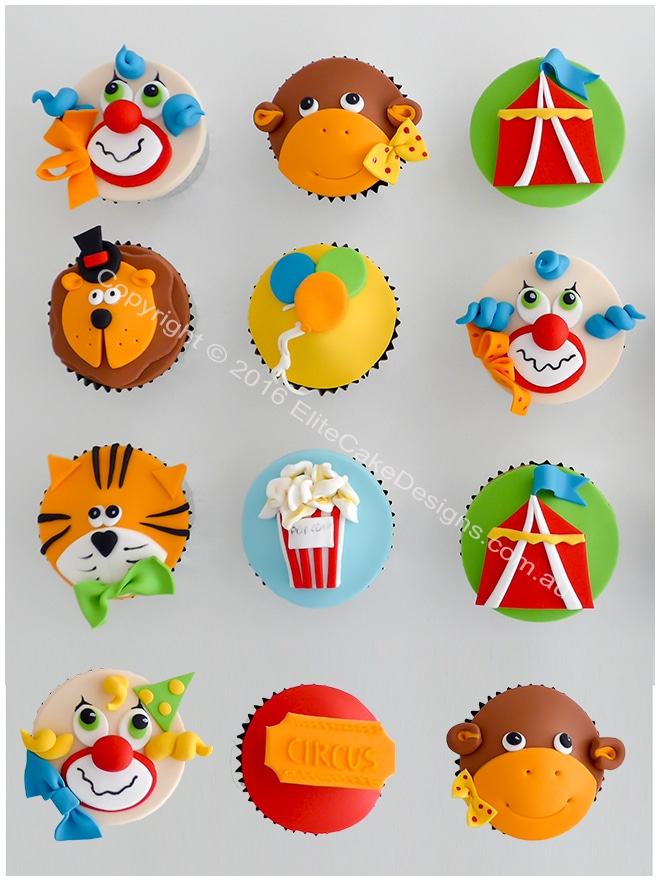 Circus - Carnival cupcakes for kids birthday
